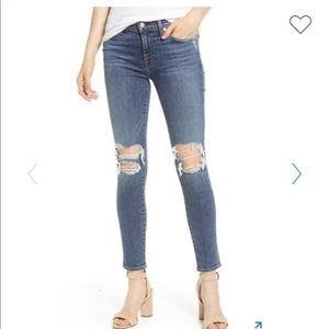 7 for All Mankind high waist distressed skinny
